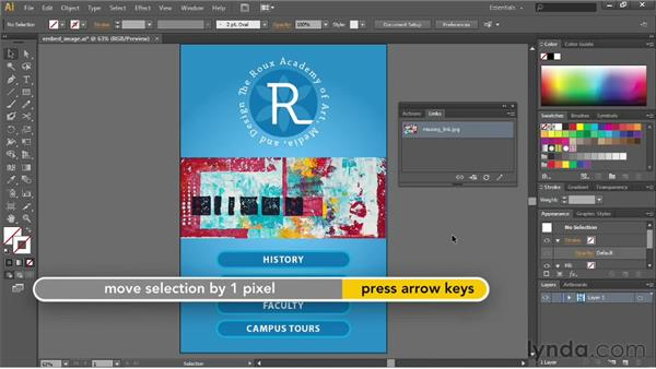 Cropping images with a mask: Illustrator CS6 Essential Training