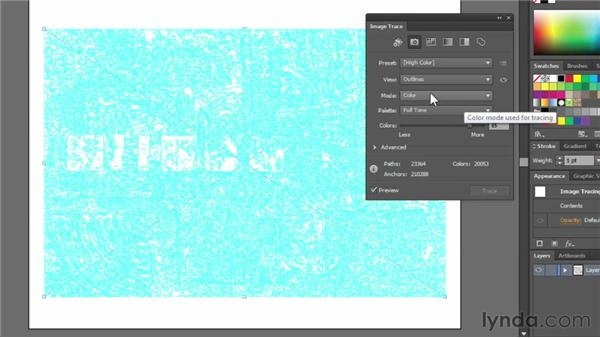 Exploring the Image Trace panel: Illustrator CS6 Essential Training