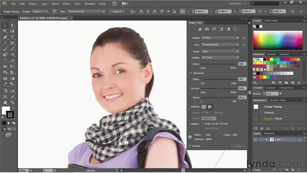 Tracing photographs: Illustrator CS6 Essential Training