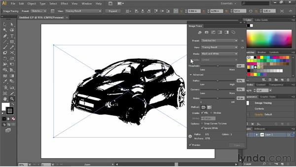 Tracing line art: Illustrator CS6 Essential Training