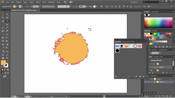 Breaking the symbol link: Illustrator CS6 Essential Training