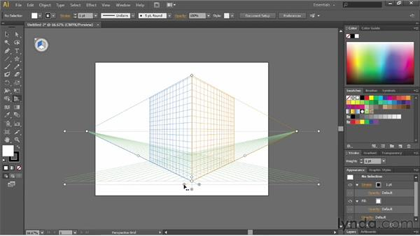Defining a perspective grid: Illustrator CS6 Essential Training