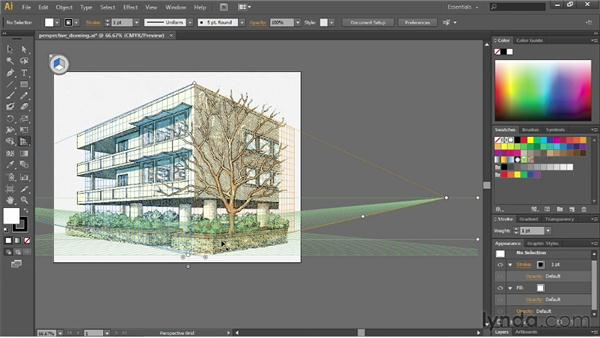 Drawing artwork in perspective: Illustrator CS6 Essential Training