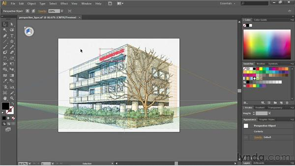 Applying artwork to the grid: Illustrator CS6 Essential Training