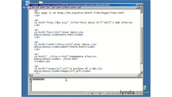 introduction to hyperlinks: XHTML Essential Training