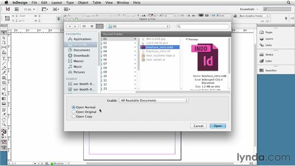 Getting started: InDesign CS6 Essential Training
