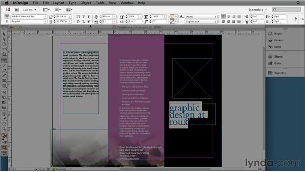 Adding or editing text: InDesign CS6 Essential Training