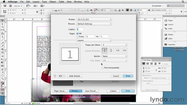 Printing and creating a PDF: InDesign CS6 Essential Training