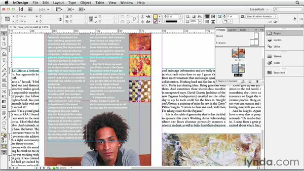 Navigating and magnifying pages and objects: InDesign CS6 Essential Training