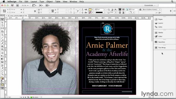 Working with panels: InDesign CS6 Essential Training