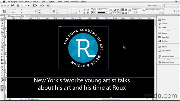 Setting the view quality of artwork: InDesign CS6 Essential Training