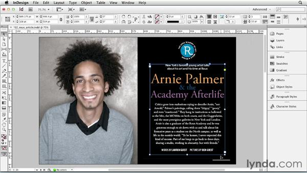 Adjusting view and preview settings: InDesign CS6 Essential Training