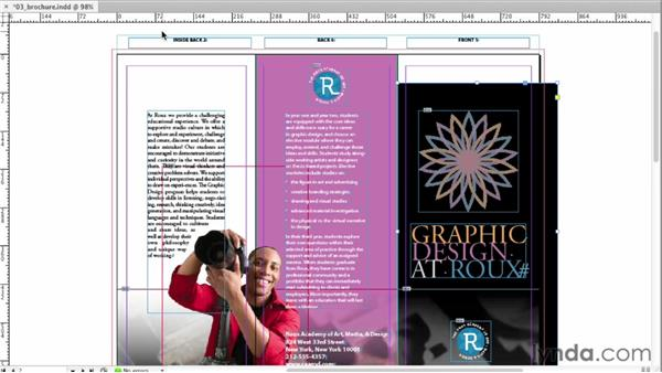 Bleeding colors or images off the side of the page: InDesign CS6 Essential Training