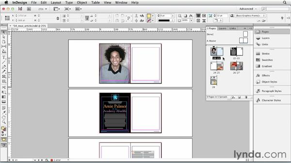 Inserting, deleting, and moving pages: InDesign CS6 Essential Training