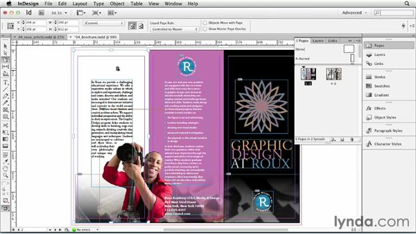 Changing page size: InDesign CS6 Essential Training