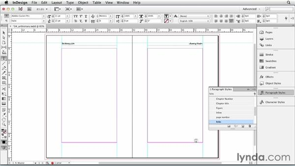 Creating and applying master pages: InDesign CS6 Essential Training