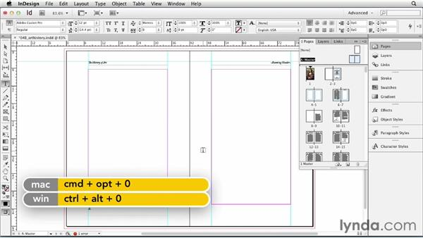 Adding page numbering: InDesign CS6 Essential Training