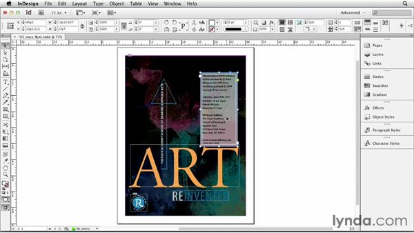 Allowing text frames to grow and shrink: InDesign CS6 Essential Training