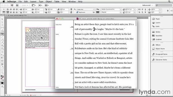 Using the Story Editor: InDesign CS6 Essential Training