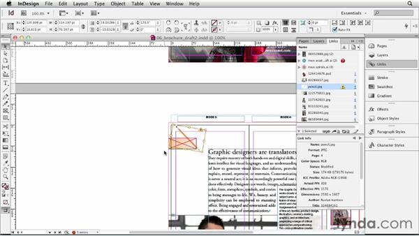 Using the Links panel: InDesign CS6 Essential Training