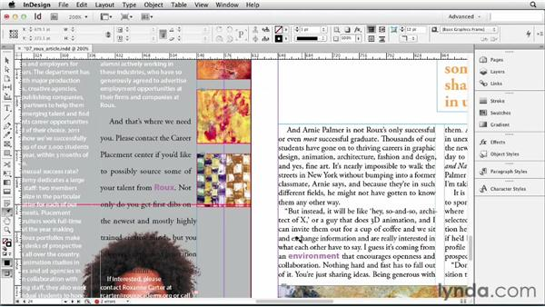 Copying and formatting with the Eyedropper tool: InDesign CS6 Essential Training