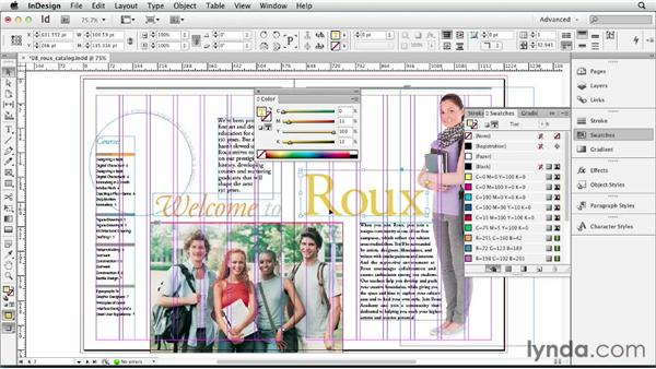 Understanding the danger and power of unnamed colors: InDesign CS6 Essential Training