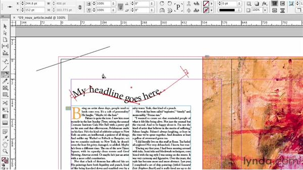 Editing frame and path shapes: InDesign CS6 Essential Training