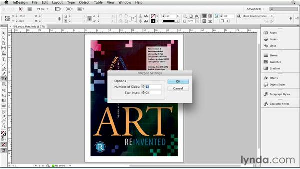 Making polygons and starbursts: InDesign CS6 Essential Training