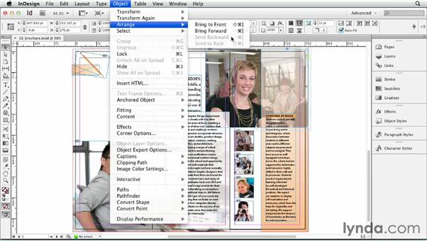 Stacking objects: InDesign CS6 Essential Training