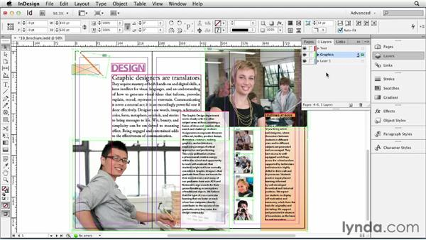 Creating and controlling layers: InDesign CS6 Essential Training