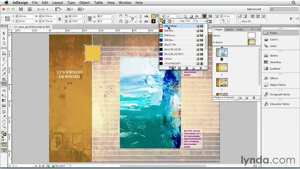 Duplicating objects: InDesign CS6 Essential Training