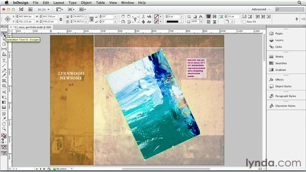 Rotating objects: InDesign CS6 Essential Training