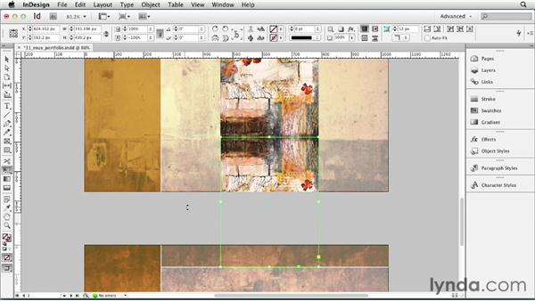 Mirroring objects: InDesign CS6 Essential Training