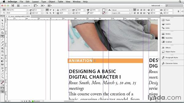 Using Find Font: InDesign CS6 Essential Training