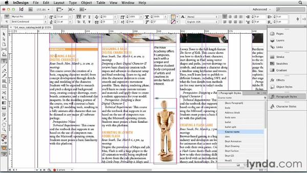 Editing and redefining styles: InDesign CS6 Essential Training