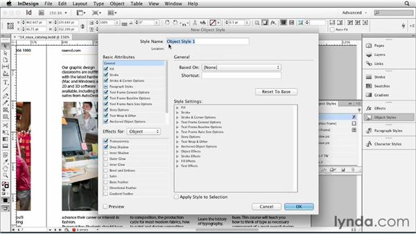 Using object styles: InDesign CS6 Essential Training