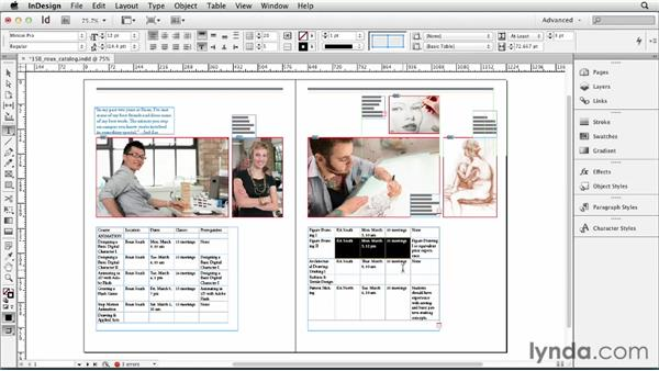 Adjusting rows and columns: InDesign CS6 Essential Training