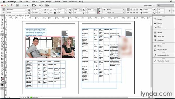 Adding and deleting rows and columns: InDesign CS6 Essential Training