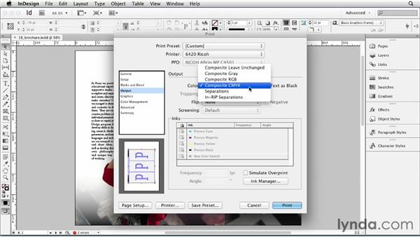 Using the Print dialog box: InDesign CS6 Essential Training