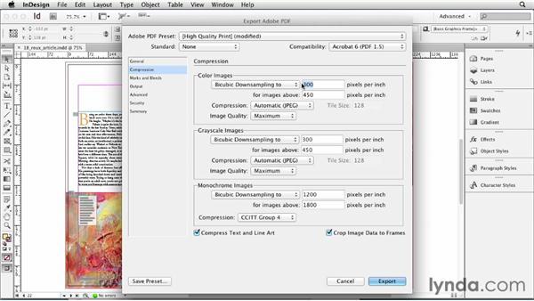 Exporting a PDF: InDesign CS6 Essential Training