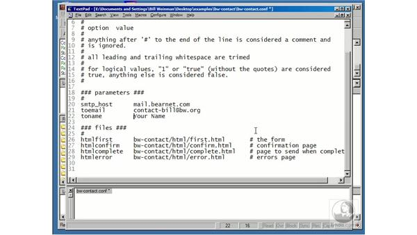 installing BW contact: Using Perl/CGI Scripts