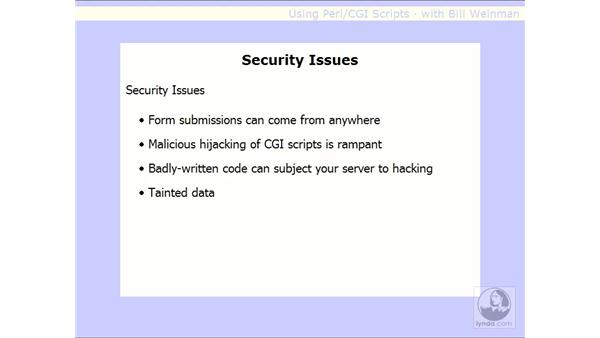 security issues: Using Perl/CGI Scripts