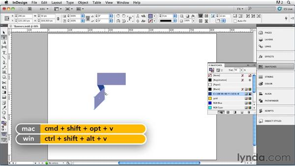 038 Drawing 3D Banners: InDesign FX