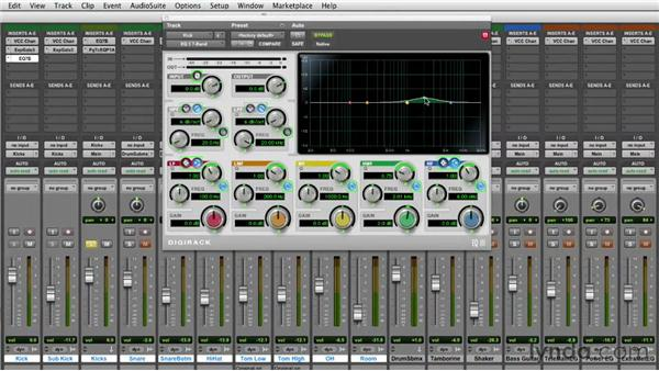 Setting initial levels and building a foundation: Mixing a Rock Song in Pro Tools
