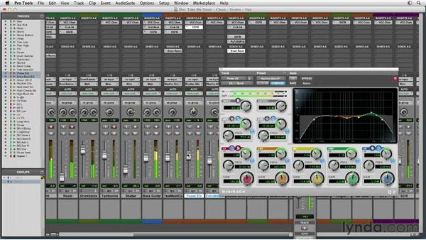 Filling in the rhythm section: Mixing a Rock Song in Pro Tools