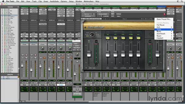 Using automation to create excitement and contrast: Mixing a Rock Song in Pro Tools