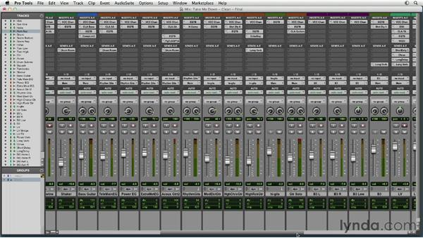 Revising and bouncing the final mix: Mixing a Rock Song in Pro Tools