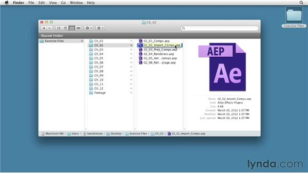 Using the exercise files: After Effects CS6 Essential Training