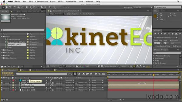 Understanding compositions: After Effects CS6 Essential Training
