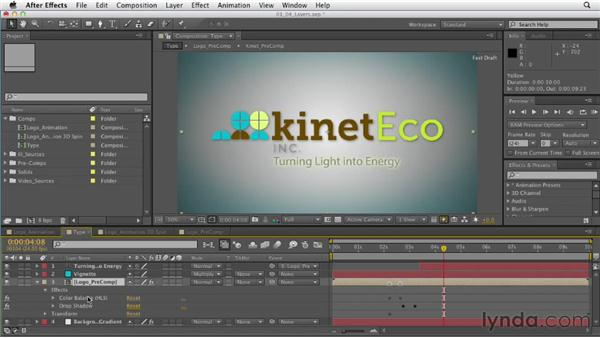Getting comfortable with layers: After Effects CS6 Essential Training